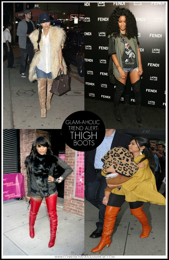 Glam-Aholic Trend Alert: Thigh High Boots