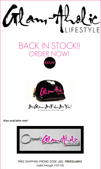 Glam-Aholic Lifestyle: Cosmetic Pouch Back In Stock!