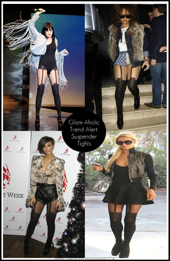 Glam-Aholic Trend Alert: Suspender Tights