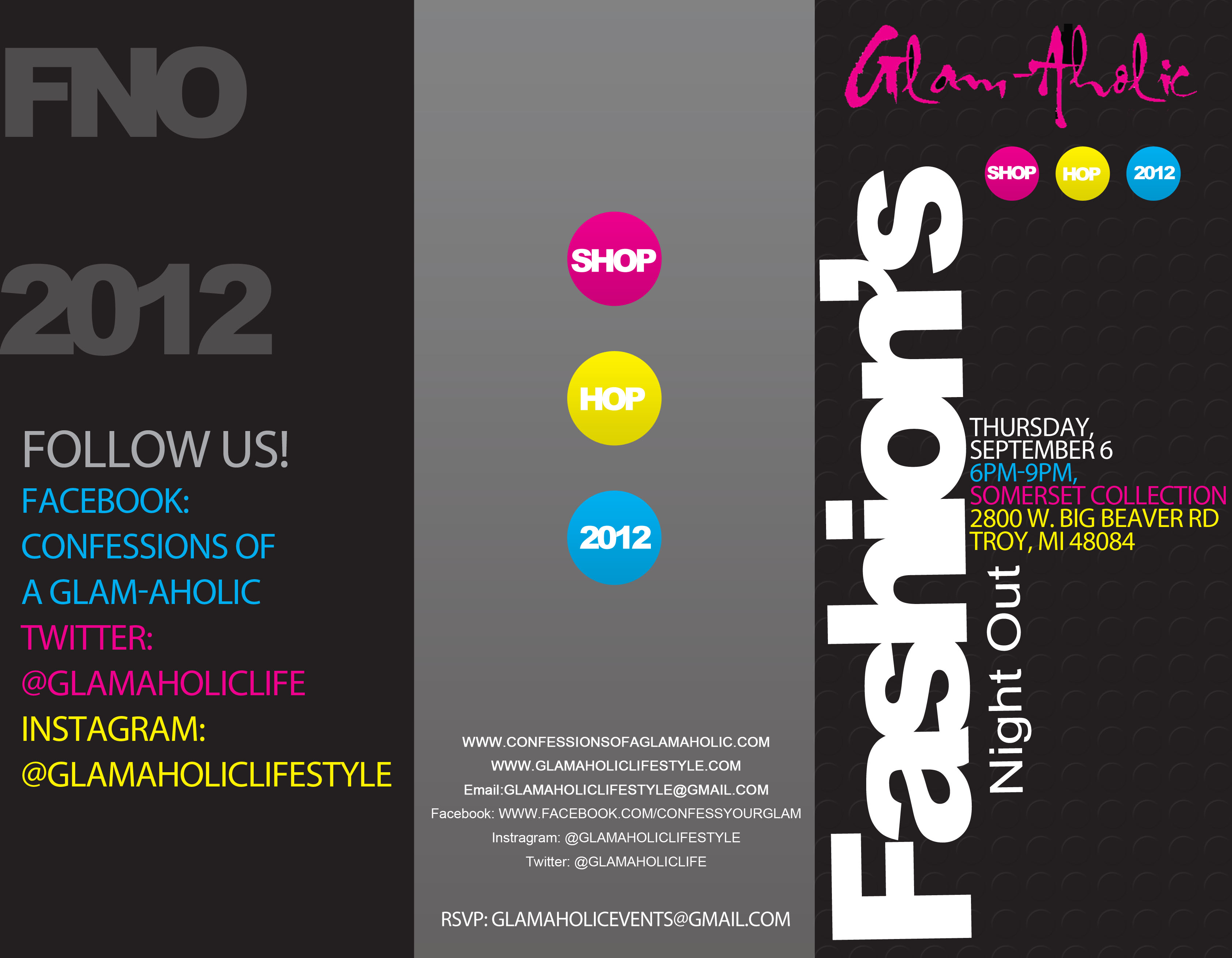 Glam-Aholic Fashion's Night Out 2012!